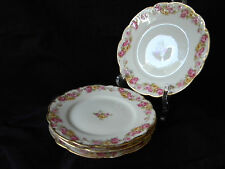 """FOUR ANTIQUE """"ELITE WORKS"""" LIMOGES/BOWER & DOTTER BB PLATES - ca. early 1900's"""