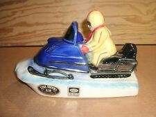 EZRA BROOKS SNOWMOBILE WHISKEY DECANTER DATED 1972 VERY NICE CONDITION!