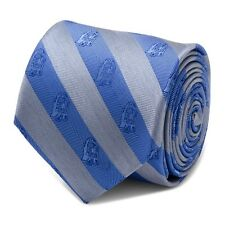 Star Wars R2D2 Blue and Grey Stripe Men's Tie Free Shipping