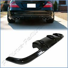 For 06-10 BENZ W219 CLS55 CLS63 4DR AMG Bumper Carbon Fiber Rear Lower Diffuser