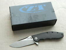 Zero Tolerance ZT 0562CF Titanium Framelock Folding Knife! Hinderer Flipper