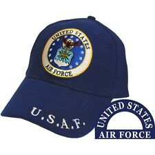 United States Air Force Eagle Logo Blue Hat U.S.A.F. Cap
