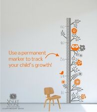 Wall Decals Growth Chart Woodland - Nursery Vinyl Wall Stickers Art