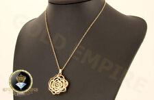 Damen Kette Halskette mit Anhänger 750 Gold/18 Karat vergoldet 1091
