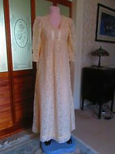 Original vintage 1960's Regency style, Empire Line Wedding Gown. Size 8/ 10