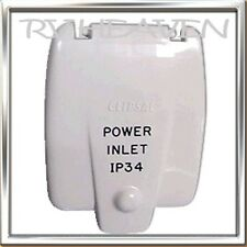 CLIPSAL IP34 240 POWER INLET COVER CARAVAN TRAILER CAMPER  ACCESSARY BRAND NEW