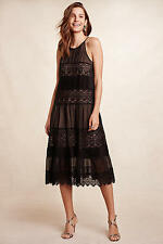 NWT Anthropologie Villanelle Lace Dress, by HD in Paris - black, size SP