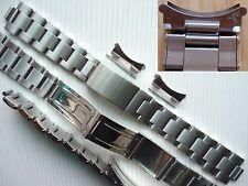 19MM Vintage Style Solid Steel Rivet Oyster Bracelet Band For Old Explorer Watch