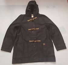 DENIM & SUPPLY RALPH LAUREN CHARCOAL BLACK 100% COTTON HOODED TOGGLE COAT SZ XL