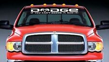 If You Cant Dodge It Ram It windshield banner decal  sticker With RAM