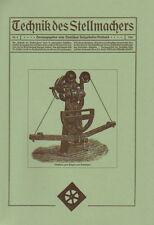 Technique du vice allèrent Nº 3/1921 actionneur faiseurs wagner wagenbau wagnerei reprint