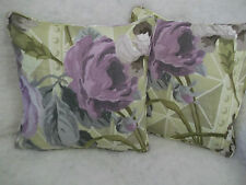 """DUJARDIN  BY DESIGNERS GUILD 1 PAIR OF 18"""" CUSHION COVERS DOUBLE SIDED/PIPED"""