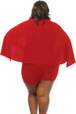 Plus size red cape romper jumpsuit club wear party wear size 14