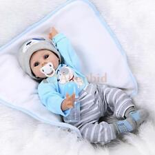"22"" Npkdoll Reborn Doll Handmade Lifelike Baby Solid Silicone Dolls +Clothes"