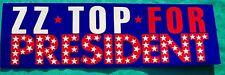 ZZ Top 1989 fan club bumper sticker bumpersticker mint & unpeeled ZZTOP