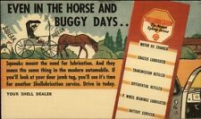 Shell Oil - Engine Checklist Reminder Postal Card Horse & Buggy Days Theme