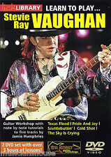 Lick Library Learn To Play Stevie Ray Vaughan Texas Flood Cold Shot Guitarra Dvd