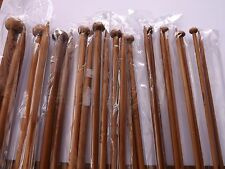 Carbonized Dark Bamboo Single Point Knitting Needles/Pins 10 mm 24.6cm 1 pair