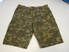 Mens RARE CROW Modern Amusement walk casual shorts 34 camo camouflage surf skate