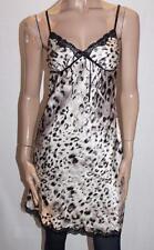 gingerlilly Designer Animal Print Silky Baby Doll Dress Sleepwear Size S BNWT