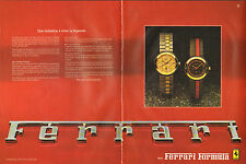 Publicité Advertising 1983  (Double page)  Montre FERRARI FORMULA