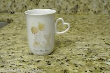 Precious Moments 1978 Love Lifted Me Coffee Cup Mug Heart Shaped Handle