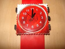 "FAB FUNKY STAMP STYLE WATCH - ""Red Rose"" - BRAND NEW with New Battery"
