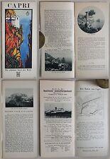 Prospekt/Reiseführer: Sieben Tage auf Capri (um 1930) - Ortskunde, Italien - xz