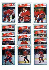 1X MONTREAL CANADIENS 1988 89 opc FULL TEAM SET O Pee Chee NMMT Lots Availab ROY