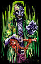 Zombie Stalker Flocked Blacklight Poster Blacklight Poster Print, 23x35