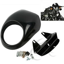Headlight Fairing Visor Front Cowl Cafe Racer For Harley Sportster Dyna Glide FL