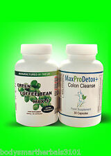 90 GREEN COFFEE BEAN EXTRACT & 60 MAX PRO DETOX COLON CLEANSE