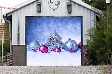 Merry Christmas Decor Single Garage Door Covers Banner 3D Outside House GD121