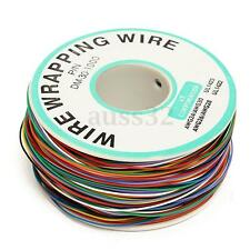 250M P/N B-30-1000 30AWG 8-Wire Colored Insulation Wrapping Cable Reel Plastic