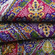 "Purple Dressmaking Indian Cotton Solid Sewing Craft Fabric 55"" Wide By The Meter"