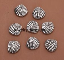 15pcs Tibetan Silver Charm Shell Spacer Beads DIY Jewelry Making 12x13mm A3066