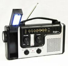 topAlert Emergency Solar Hand Crank Dynamo AM/FM/NOAA Weather Radio, Flashlight,