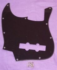 LEFT HANDED SCRATCHPLATE FOR FENDER JAZZ BASS / BLACK SINGLE PLY