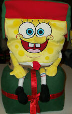 Spongebob Squarepants large Holiday Greeter Decoration Plush Xmas Nickelodeon