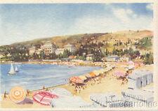 PORTOROSE - La spiaggia  - dis. Raimondi - 1939