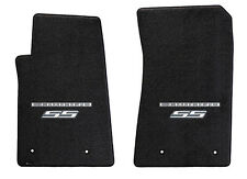 NEW! BLACK FLOOR MATS 2010-2013 Camaro Embroidered Logo SS in Silver 2 pc SET