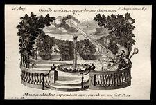 santino incisione 1700 S.AGOSTINO D'IPPONA.  klauber