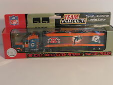 Miami Dolphins NFL - Team Collectible Peterbilt Tractor-Trailer Semi Truck *NEW*