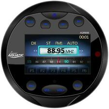New Bluetooth Marine Gauge Style AM/FM Radio Receiver MP3/USB AUX Video In Black