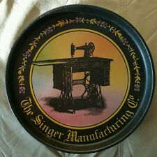 "Vintage Bristolware ""The Singer Manufacturing Company"" 12 In. Tin Tray"