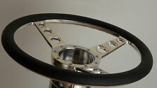 STEERING WHEEL 15 INCH BILLET 3 SPOKE 9 BOLT HALF WRAP AVAILABLE IN 4 COLORS
