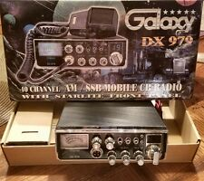 GALAXY DX979 40 CHANNEL MID-SIZE SIDEBAND CB RADIO WITH BLUE STARLIGHT FACE