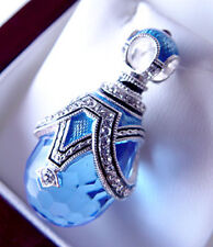 SALE ! BEAUTIFUL RUSSIAN PENDANT STERLING SILVER 925 WITH ENAMEL with BLUE TOPAZ
