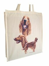 Irish Red Setter Reusable Cotton Shopping Bag Tote with Gusset and Long Handles