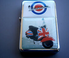 BRITISH UNION JACK VESPA MOTOR BIKE SCOOTER STAR BRAND LIGHTER & zippo flints